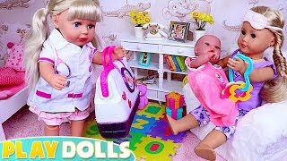 Baby Born Doctor Visit in the Dollhouse!