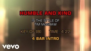 Tim McGraw - Humble And Kind (Karaoke)