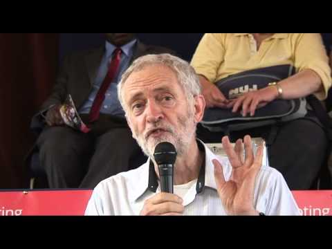 Jeremy Corbyn talks in Coventry