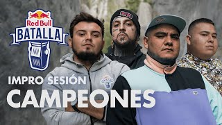ACZINO, JONY BELTRAN, LOBO ESTEPARIO y RAPDER | IMPRO SESIÓN | Red Bull Batalla