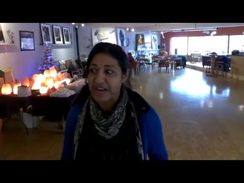 Samina Ali at the Wellbeing local fair at the Attico Art Cafe