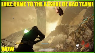 Star Wars Battlefront 2 - The Enemy team wasn't expecting us to join XD Luke Skywalker ownage!