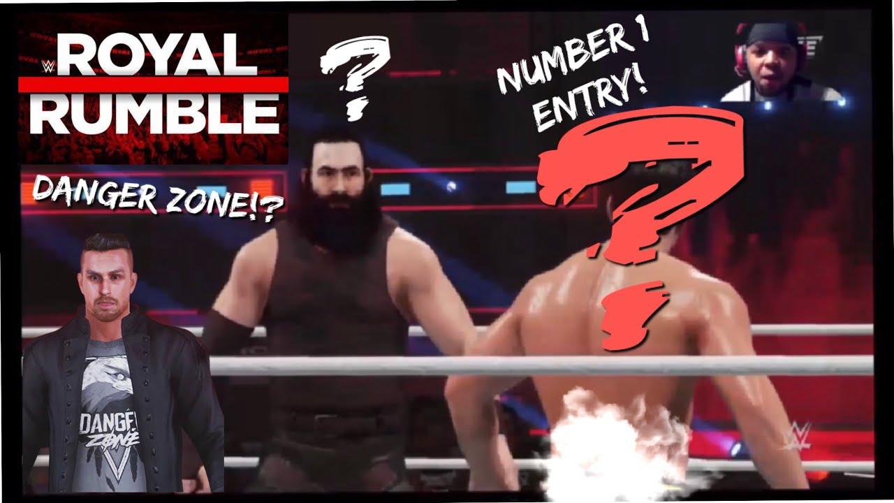 WINNING ROYAL RUMBLE AT NUMBER 1!? FACING CHRIS DANGER! WWE 2K19