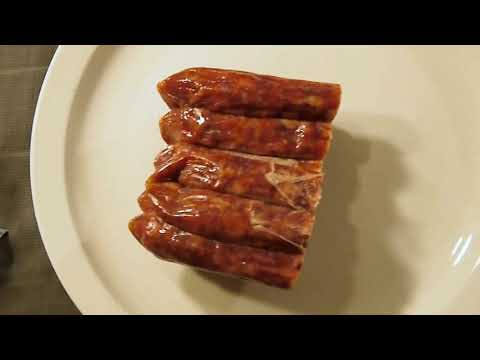 How I fry CHINESE STYLE SAUSAGE Kam Yen Jan Lup Chong