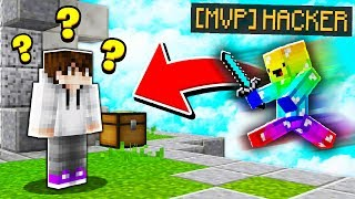 I CAUGHT A DONATOR FLY HACKING! (Minecraft Skywars)