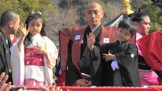 平成31年2月3日 成田山新勝寺で行われた節分会の様子。 豆まき中は撮影...