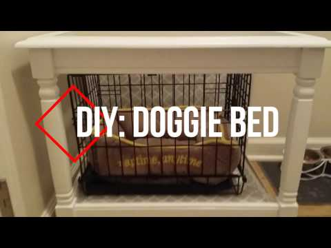 DIY: Doggie Bed Cover Re-purpose Funiture