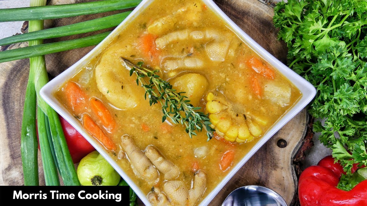 How To Make Jamaican Chicken Foot Pumpkin Soup Saturday Must