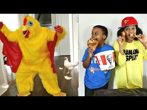 Thumbnail: Bad Baby CRAZY KFC CHICKEN ATTACKS Shiloh And Shasha - Onyx Kids