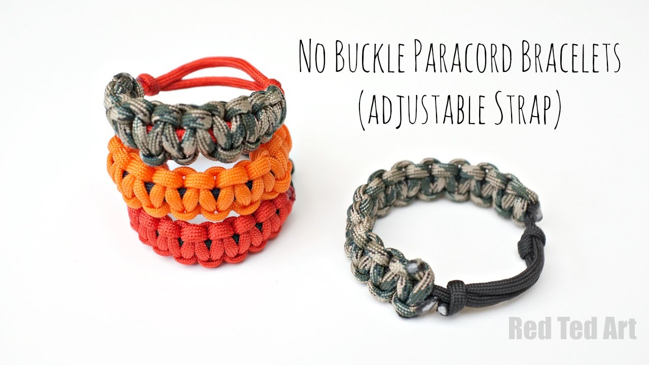How to make a Paracord Bracelet without Buckles (adjustable)