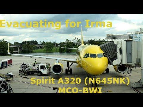Spirit Airlines Trip Report: Evacuating Irma! (MCO-BWI on N645NK)