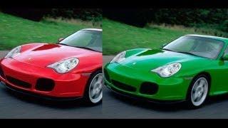 Adobe Photoshop изменение цвета автомобиля