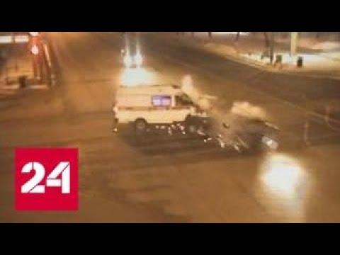 Смертельная авария Lada Vesta и скорой помощи в Перми попала на видео - Россия 24