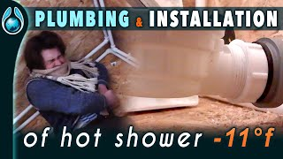 Plumbing up of the shower from an Earthship W.O.M.
