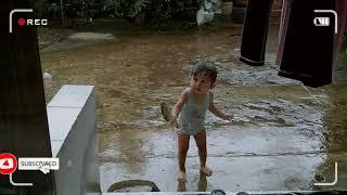 Mandi hujan dan LAGU TIK TIK BUNYI HUJAN - MAINAN HUJAN HUJANAN - LAGU POPULER TIK TIK BUNYI HUJAN