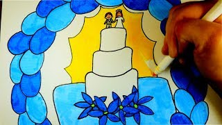 How To Draw A Wedding Cake | Easy Drawing For Kids