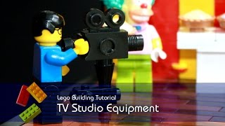 Lego Tutorial - Building Tv Studio Equipment From The Simpsons Krusty The Clown Show