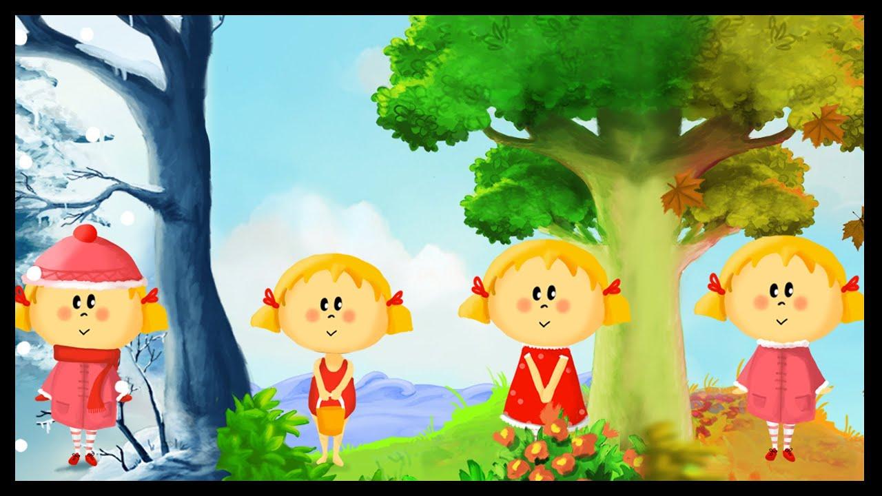 Apprendre les saisons en s 39 amusant francais youtube for Le jardin des 4 saisons pusignan