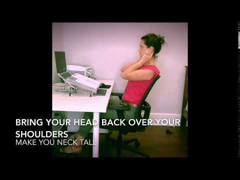 Step 3 Keeping healthy 'S' curve sitting- Bring head back over shoulders