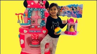Minnie Mouse Toy Kitchen | Kids Pretend Play Cooking Baking Cookies Toys | Kids Kitchen Play Set