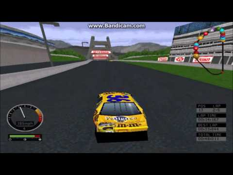 NASCAR Road Racing (PC) Gameplay (Ernie Irvan) (Bridgeport Speedway) (5 Laps)