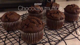 초코 머핀 Chocolate muffins