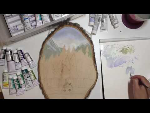 Gouache Painting Video – Mountain Forest