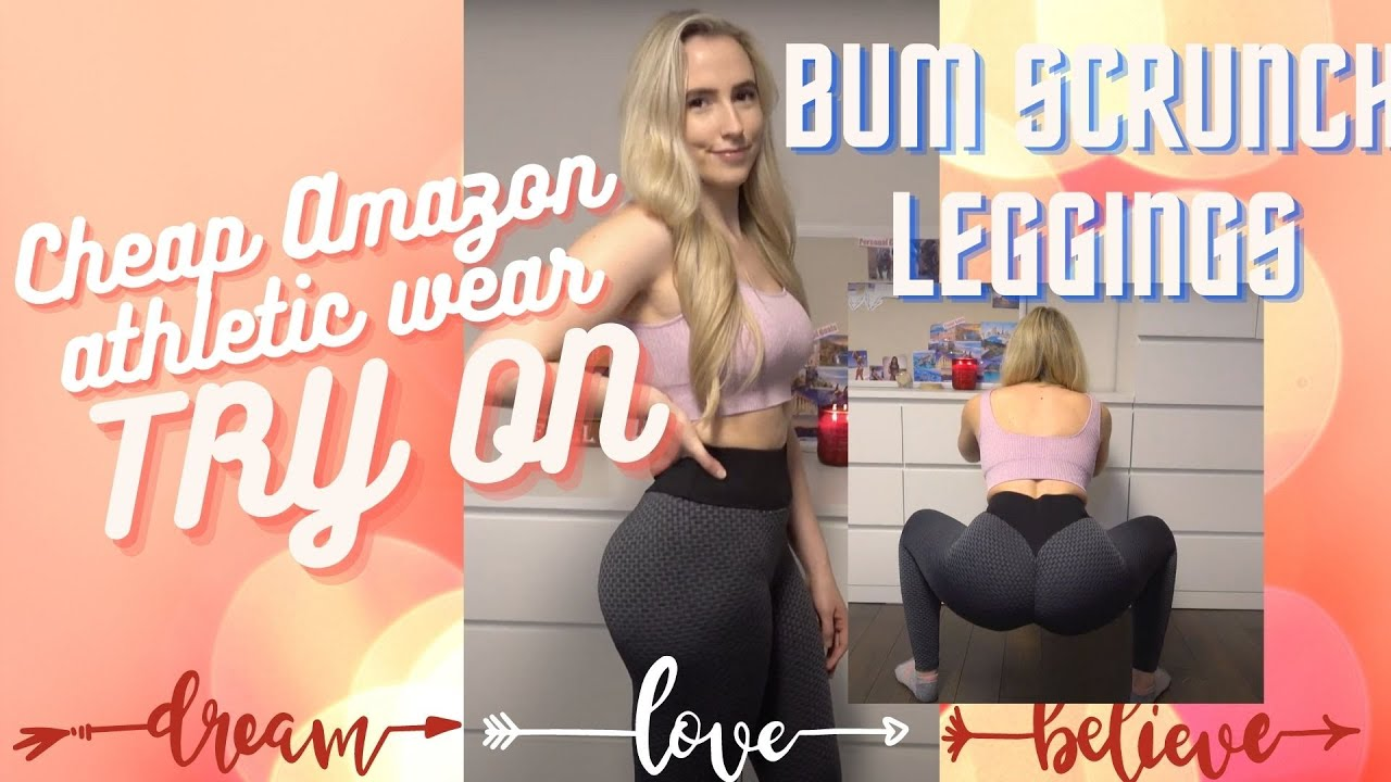 AMAZON ATHLETIC WEAR TRY ON HAUL | Budget Shopping For Gym Clothes | Scrunch Bum Leggings!!!