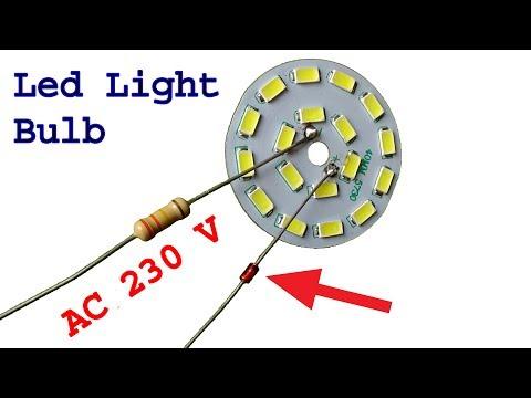 Make super easy 230 v Led light bulb, diy led light bulb idea