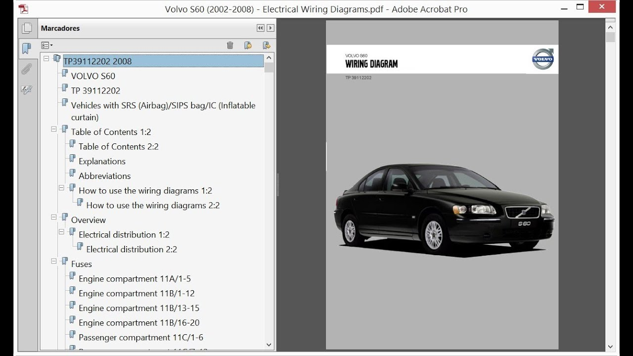 Volvo S60 (2002-2008) - Electrical Wiring Diagrams - YouTube | Volvo S60 Engine Electric Diagram |  | YouTube