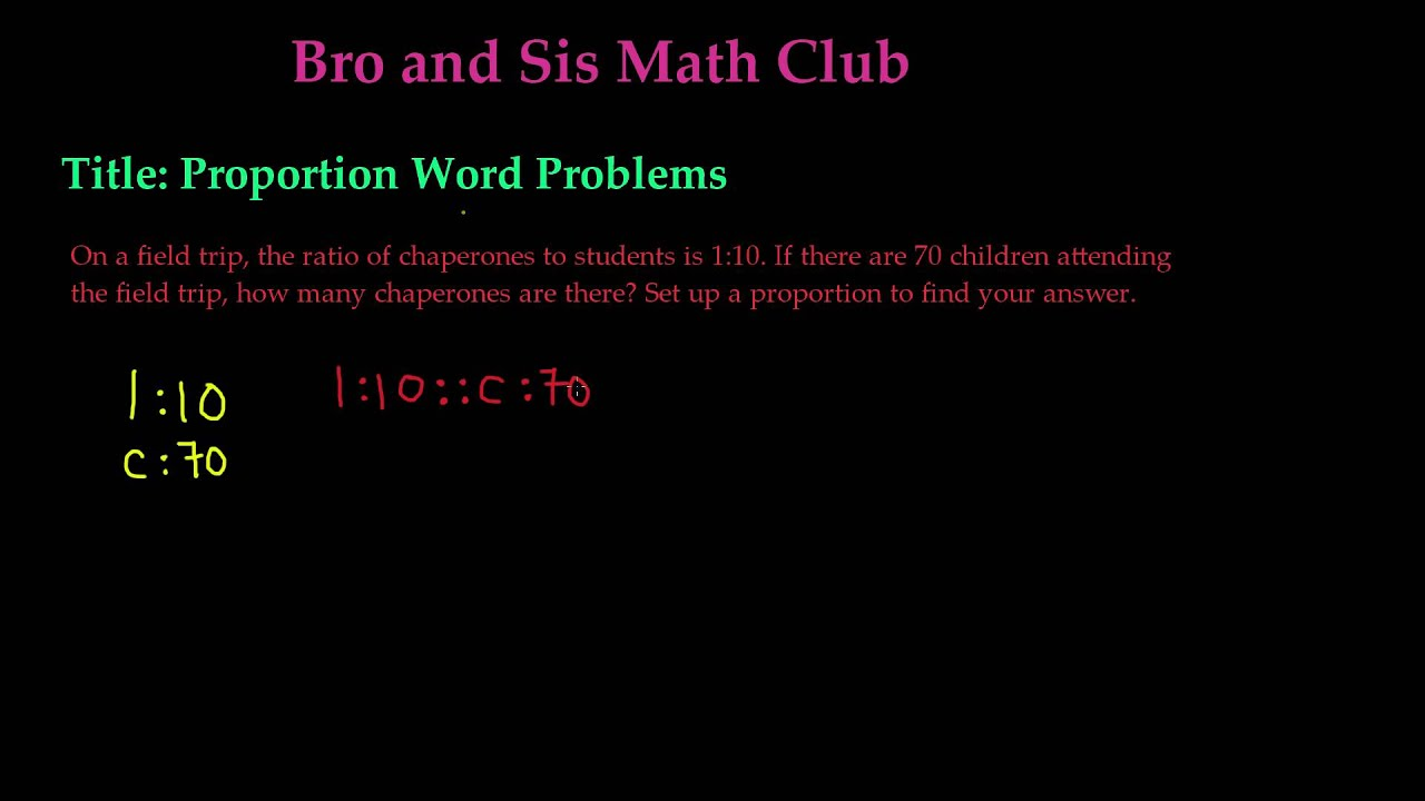 Word Problem For Proportions 7th Grade Math Youtube