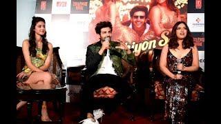 Pati Patni aur Woh Star cast interacts with media at Song launch | Kartik Aryan