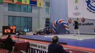 Выступление Анны Бессоновой на первенстве России по тяжелой атлетике среди юношей и девушек.