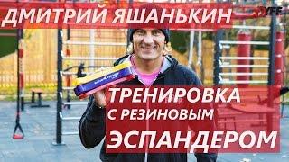 Дмитрий Яшанькин: Тренировка с резиновым эспандером