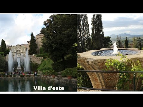 Villa d'este Tivoli Travel Guide best place for visiting  italy near  Roma