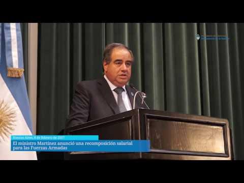 El ministro Martínez anunció una recomposición salarial  para las Fuerzas Armadas