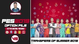 PES 2019 - OPTION FILE KITS 2019/2020 +Transfers of Summer 2019 - PS4 [ V5 ]