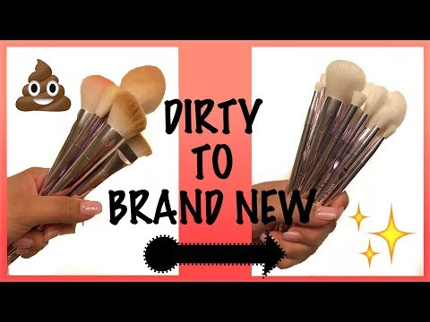 How To Clean White Synthetic Makeup Brushes for CHEAP - FT. Wet N Wild Pro Brush Set !