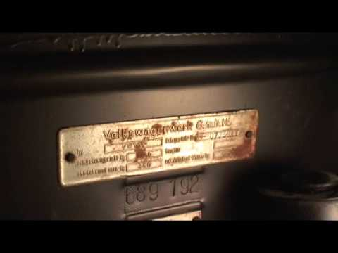 classic vw beetle bug   locate vin id numbers youtube