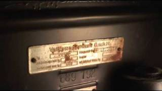 Classic VW Beetle Bug How To Locate VIN ID Numbers