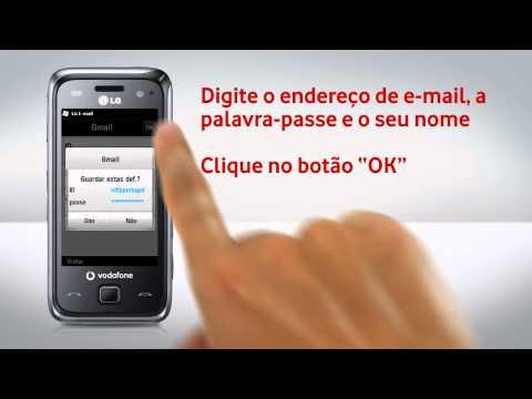 LG GM750 - Configuração de e-mail