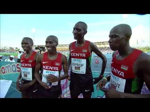 IAAF World Relays Bahamas 2014 - Mixed Zone 15 Laps Race Kenya Men Winner