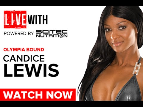 Candice Lewis Figure Phenom LIVE WITH: 2016 Road to the Olympia (Powered by Scitec Nutrition)