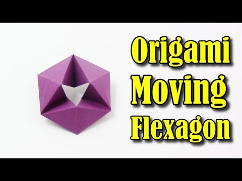 Origami Flexagon Easy Moving Flexagon In English Yakomoga Easy