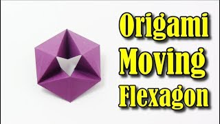 Origami Flexagon EASY (Moving Flexagon) IN ENGLISH - Yakomoga Easy Origami tutorial