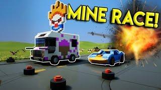 EXPLOSIVE LEGO LAND MINE RACE! - Brick Rigs Multiplayer Challenge Gameplay - Lego City Street Race