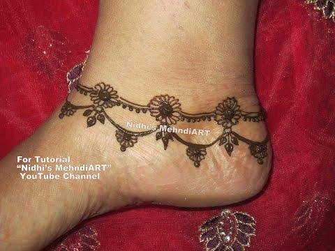 Cute Mehndi Tattoo : Full video easy simple mehndi design cute henna mehendi for