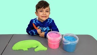 Learn Colors with Kinetic Sand Nursery Rhymes for Kids Toddlers