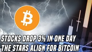 The Bitcoin Storm   Stocks Sell-Off As Bitcoin Sets Up For A Breakout