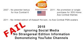 Bandai Namco HATES American Ace Combat Fans